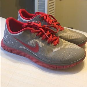 Red and gray Nike